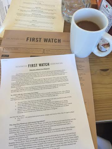 first watch menus
