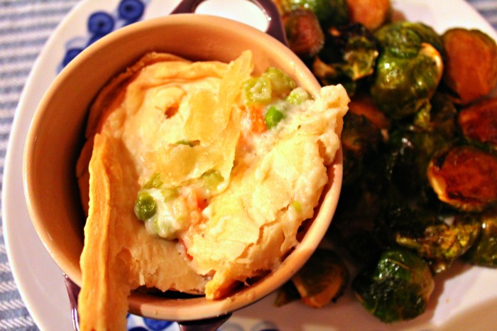chicken pot pie with sprous