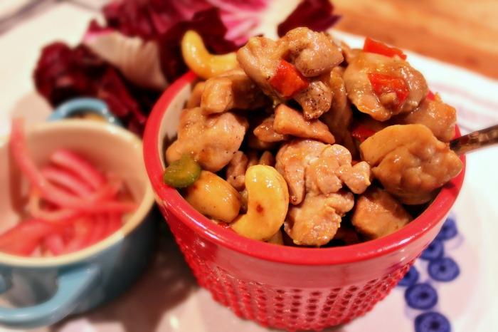 Cashew Chicken+Radicchio Cups {recipe}