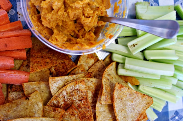 Sweet Potato Hummus at Freckled and Blue {new post}