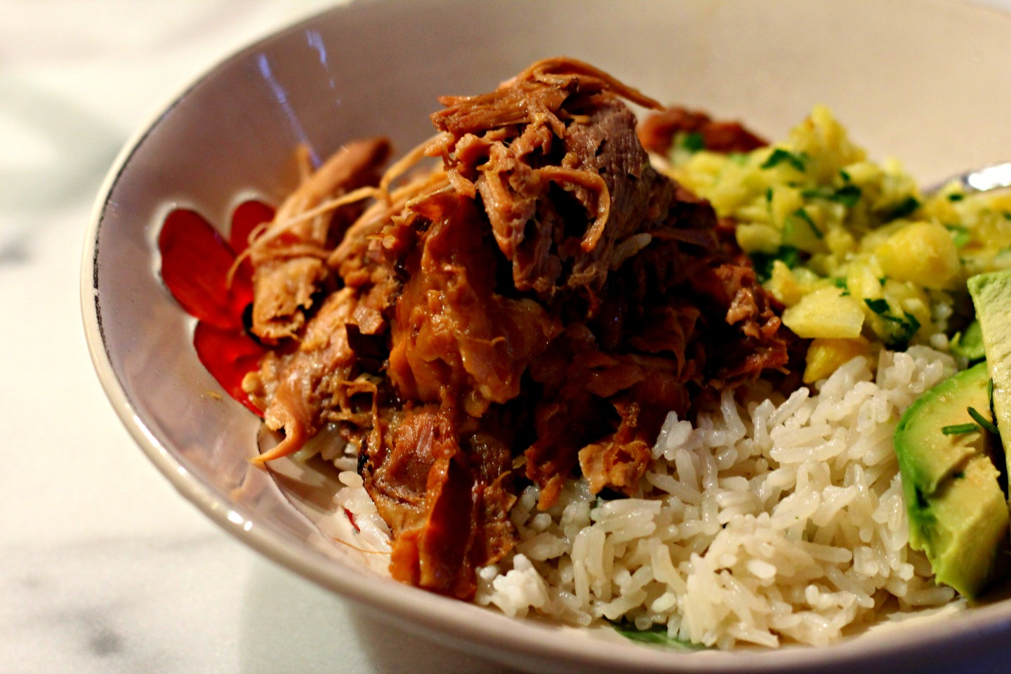 pineapple-jelly-pulled-pork-with-coconut-rice