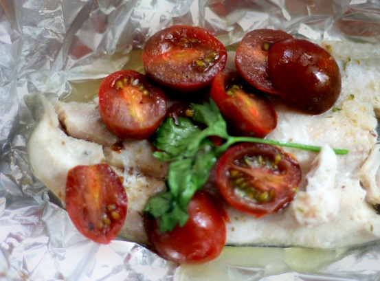 Trout and Tomato Foil Packets {recipe}